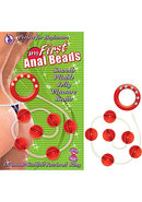 My First Anal Beads Red